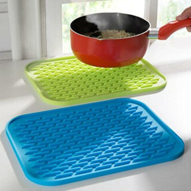 Durable Silicone Pad Kitchen Tool Coasters Heat Insulation Bowl Saucepan Mat B79
