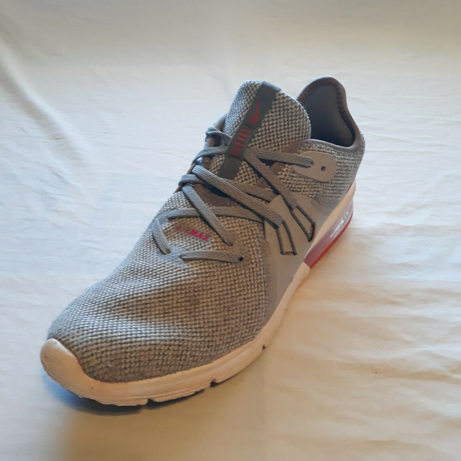Nike Adult Shoes Gray Air Max Casual Lace Up Lightweight Comfort Size Unknown