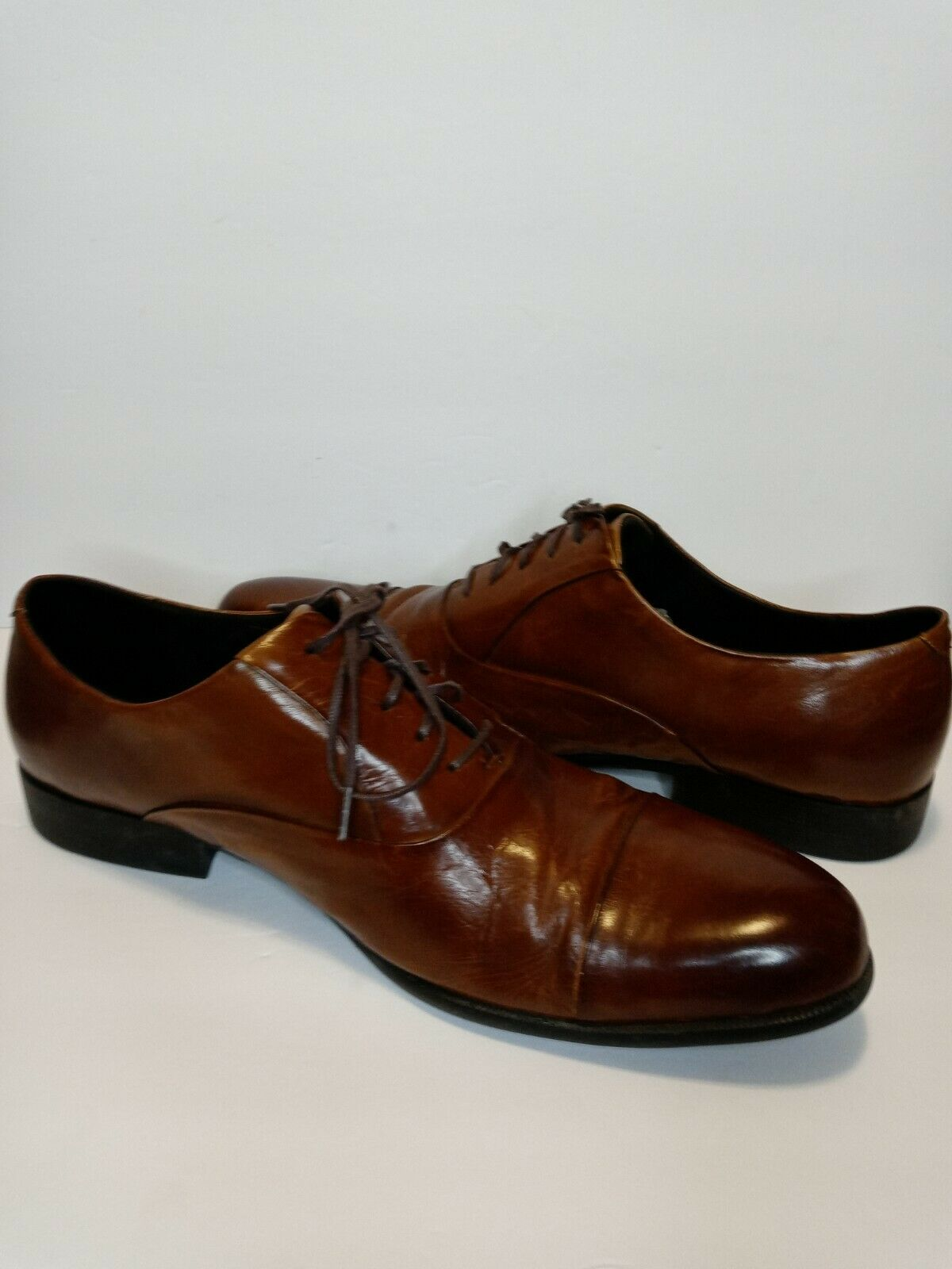 Kenneth Cole NY Men's Chief Advisor Cap Toe Dress Oxford US 11.5 Brown LEATHER