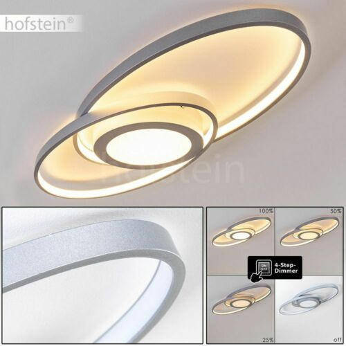 LED Flur Leuchte Decken Lampe modern Wohn Schlaf Zimmer Beleuchtung silberfarben