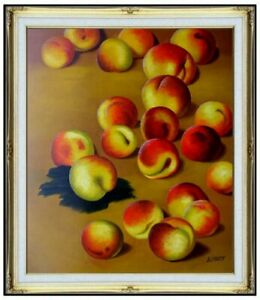 Framed-Quality-Hand-Painted-Oil-Painting-Repro-Claude-Monet-Peaches-20x24in