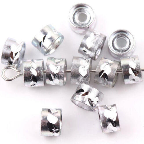 Wholesal 200Pcs DIY 6x4mm Aluminum Tube Spacer Loose Bead Charms Jewelry Making