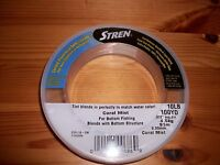 Stren 100% Fluorocarbon Leader Material 10 Lb 100 Yd Coral Mist Blends W/ Bottom