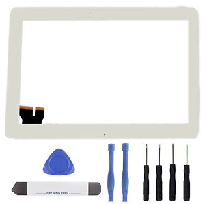 Asus-Tranformer-Pad-Tf103-Tf103C-Touchscreen-Front-Glas-Scheibe-Touch-weiss