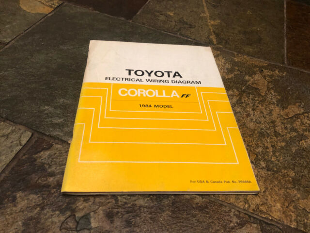 1984 Toyota Corolla Ff Wiring Diagrams Electrical Service