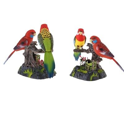 2pcs Sound Voice Activated Singing Chirping Bird with  Real Sound/&Movement