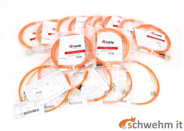 16 Stück LWL Patchkabel 2m OM2 50/125 LWL-Anschluss LC-SC Stecker Duplex