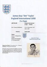 JIM TAYLOR ENGLAND INTERNATIONAL 1950 RARE ORIGINAL HAND SIGNED ANNUAL CUTTING