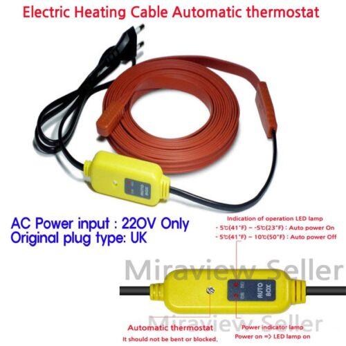 Chauffage électrique câble automatique Thermostat Water Pipe Freeze Proof chauffée Ruban
