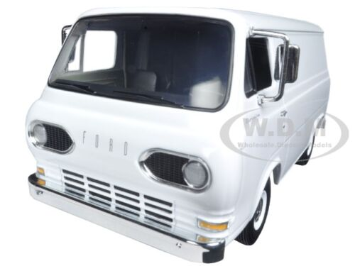 1963 1960'S FORD ECONOLINE WORKING VAN WHITE WITH BOXES 1/25 FIRST GEAR 40-0387