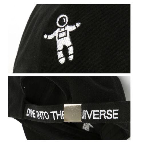 Unisex Mens Dive Into The Universe Spaceman Baseball Cap Trucker Hats Black