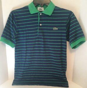 1003bafd8 Lacoste IZOD Polo Shirt Youth Boys Blue Green Stripe *Exact Size ...