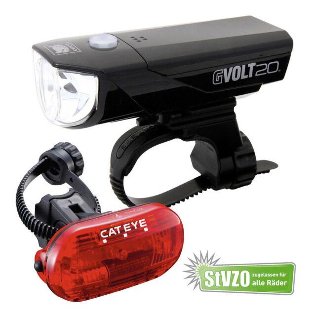 Cateye Gvolt 20 LED Fahrradlicht Set mit Rücklicht Omni 3G