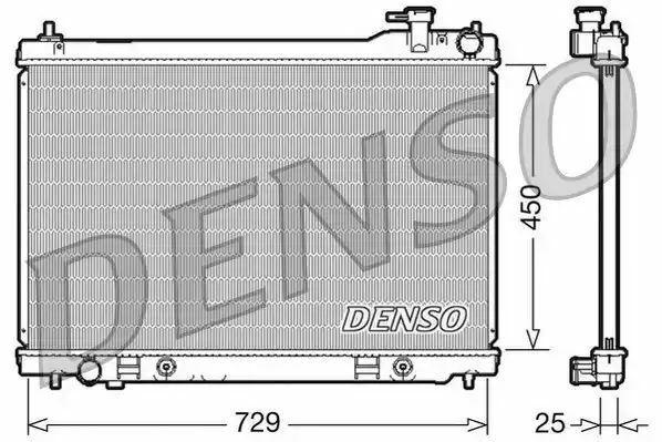 1x denso Radiador DRM46100 DRM46100