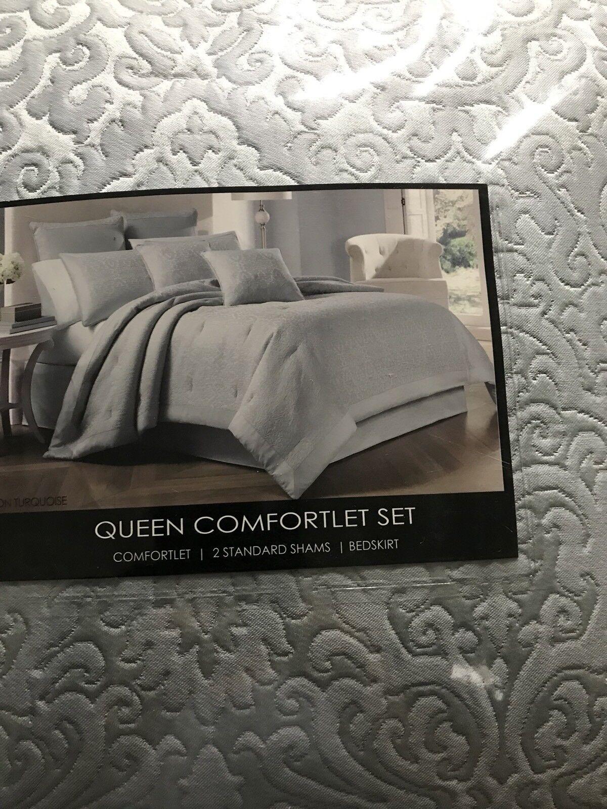 J Queen Baron Turquoise Queen comforter set
