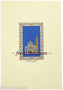 Florence-Firenze-Santa-Croce-Famous-Church-Fine-Italian-Blank-Card-New