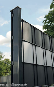 Premium Hart Sichtschutzstreifen Zaun Doppelstabmatten Gitterzaun