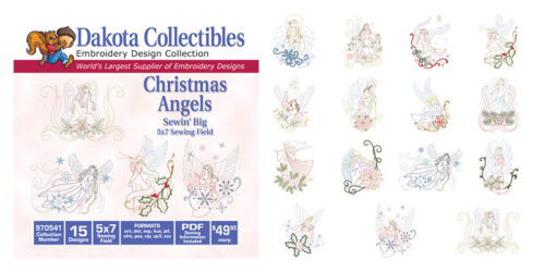 Dakota Collectibles Embroidery Machine Design CD Christmas Angels 970541