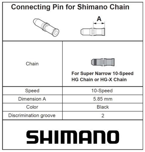 Shimano spacial Connecting Pin 10 Speed super narrow Chain Bag of 3