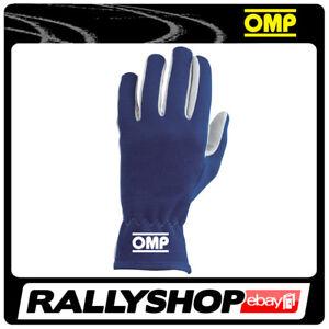 OMP NEW RALLY Karthandschuh Handschuhe Professionell  Motorsport Blau