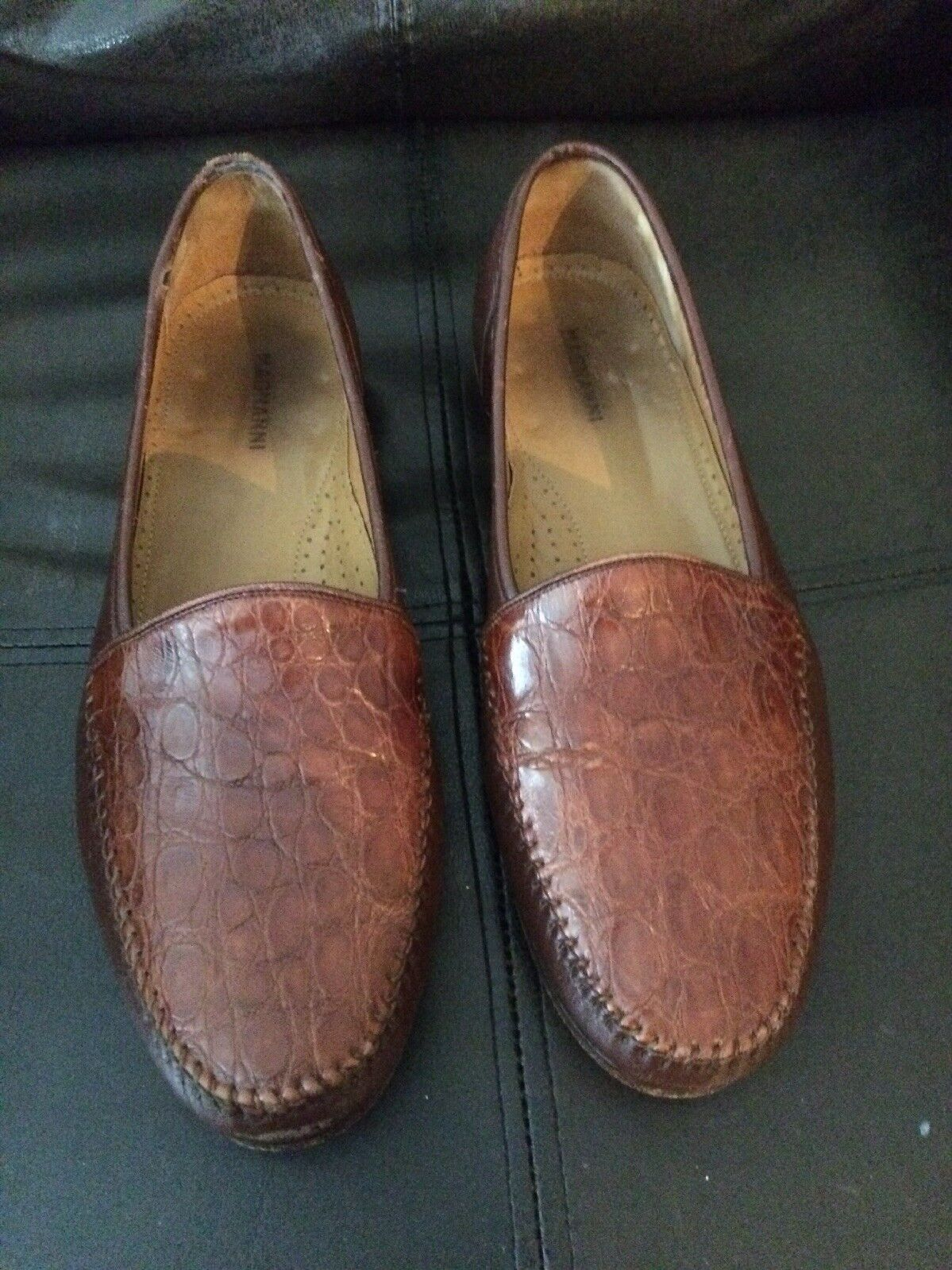 vendita all'ingrosso MAGNANNI Genuine Crocodile Crocodile Crocodile Leather Loafers Dress scarpe 11 M  consegna rapida