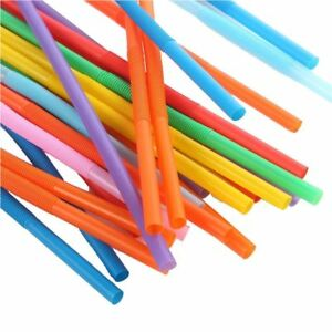 Wedding-Home-Plastic-Decor-Bar-Extra-Long-Fruit-Party-Straw-Drinking-100-Pcs