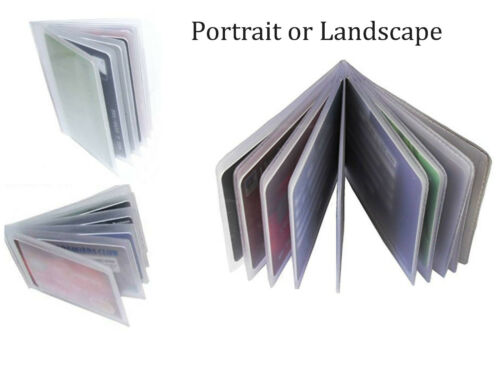 3 x Sets Replacement Credit Card Sleeve Inserts Portrait or Landscape All Sizes