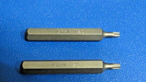 """Insérer Bits pour Mechanic Sets 75 mm long 3//8/"""" Torx T20 /& T25 Set de 10 mm"""