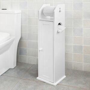 SoBuy® Armoire Salle De Bain Toilette Étagère Support Papier Wc ...