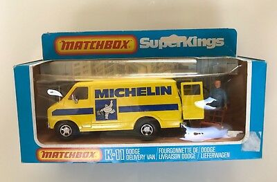 Matchbox Superkings K-11 Dodge Delivery Van – Michelin livery - 1977