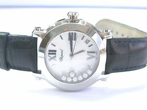 Chopard-Happy-Sport-Round-White-MOP-Diamond-Dial-Ladies-Watch-36mm-4875