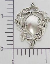 13034-2 Pc Calla Lily Victorian Jewelry Finding Matte Silver Oxidized
