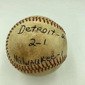 Mickey Lolich Signed Career Win No. 178 Final Out Game Used Baseball Beckett COA