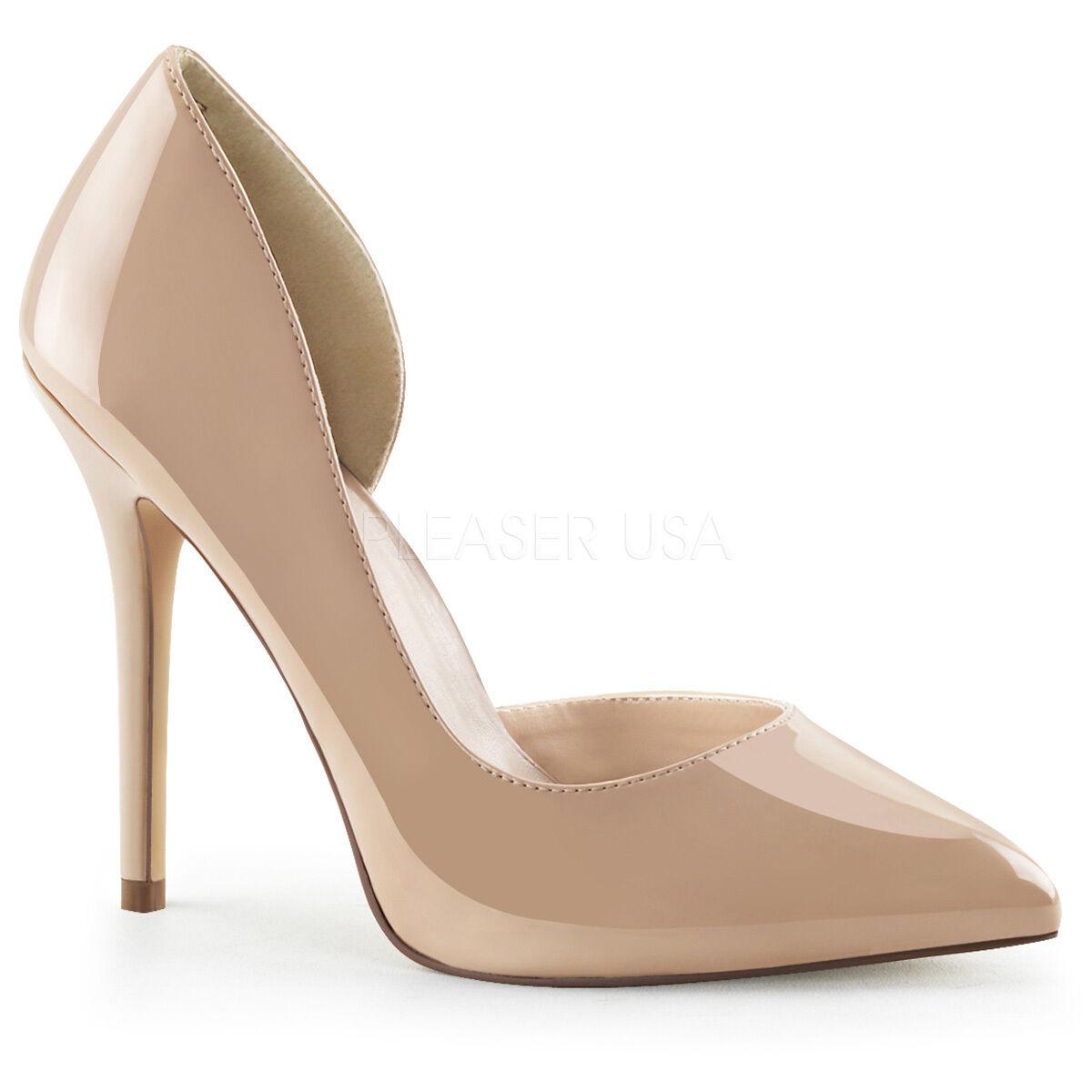Gold 13 cm Pleaser AMUSE 13 high heeled sandals