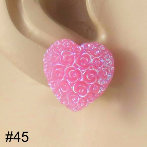 Faux Pearl//Star//Sq//Heart Earrings Pair /& FREE GIFT BOX Hypoallergenic Plastic UK