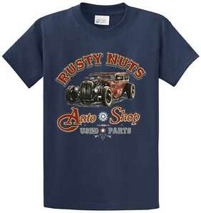 Rusty Nuts Auto Shop Graphic Printed Tee Shirt Men 39 S