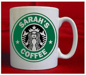 Image Is Loading Personalised Starbucks Style Coffee Mug Present Gift Birthday