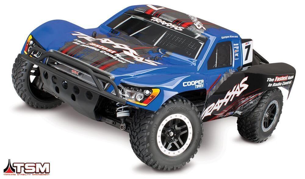 Traxxas Slash 4x4 senza Spazzole Rtr 1 10 Camion W  Tsm Blu 68086-4 Tra68086-4