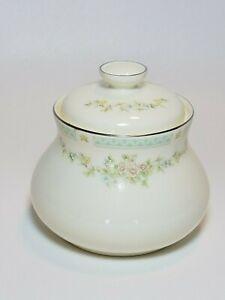 Royal-Doulton-Stephanie-English-China-Sugar-Bowl-w-Lid-Romance-Collection-1983