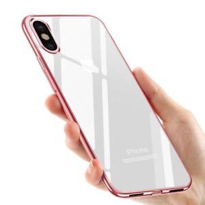 coque iphone x transparente contour blanc
