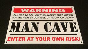Funny-Sign-WARNING-MAN-CAVE-present-A5-house-husband-boyfriend-son-dad