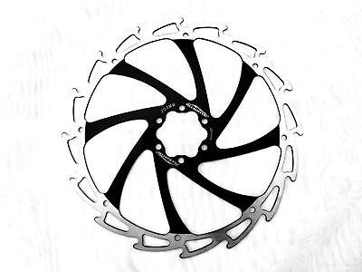 bolts Alligator Windcutter BLUE Mountain /& E Bike Disc Brake Rotor 203mm strong