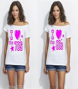 I-LOVE-THE-1980-S-1970-S-1960-S-amp-1990-S-SLASH-NECK-T-SHIRT-SIZE-S-to-3x
