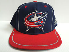 783ff5ee Columbus Blue Jackets Cap Adidas Flat Brim Snapback 2018 Official NHL Navy  Hat