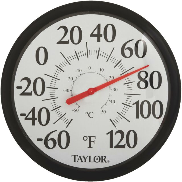 Taylor Image Gallery Easy Read Dial Outdoor Wall Thermometer