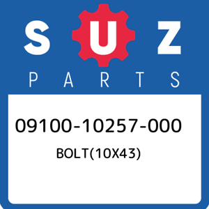 09100-10257-000-Suzuki-Bolt-10x43-0910010257000-New-Genuine-OEM-Part