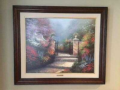 Thomas Kinkade S Victorian Garden S N 56 980 Canvas Lithograph Ebay