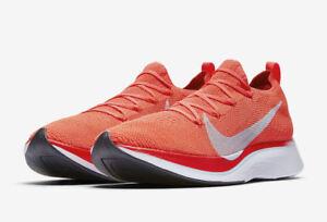Nike Vaporfly 4% Flyknit Size 5.5-10.5 Bright Crimson Ice Blue ... b6d1348a7