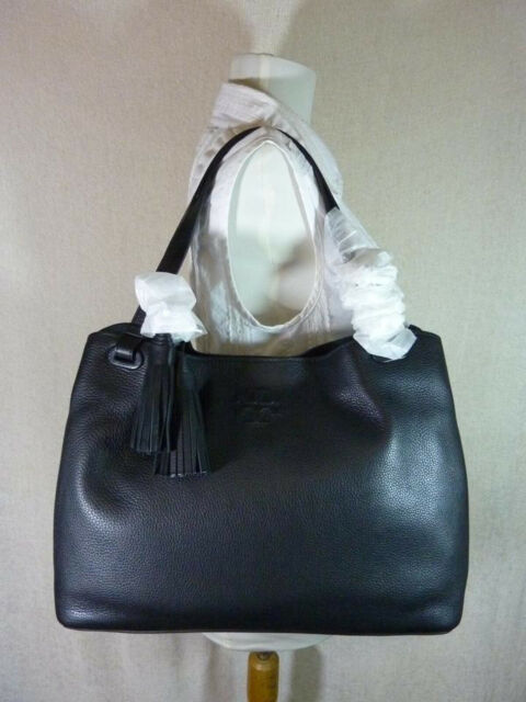 dec3f8c9809a Tory Burch Thea Center Zip Tote Bag Black Leather 11169713 for sale ...