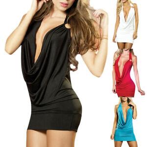 Women-Sexy-Deep-V-Neck-Bandage-Bodycon-Evening-Party-Cocktail-Club-Mini-Dress